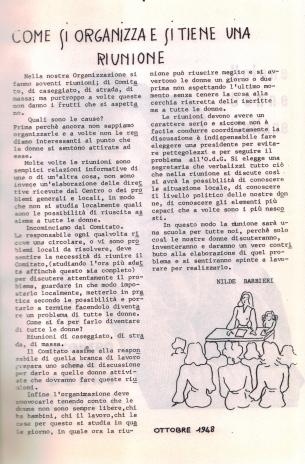 Come si tiene e si organizza una riunione 1948